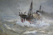 Heavy Weather in the North Sea by F H Mason