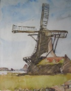 A Study of a Windmill by William Frederick Mayor