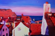 Staithes Rooftops I by Melissa Cotter