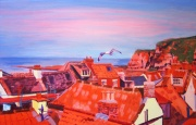 Staithes Rooftops II by Melissa Cotter