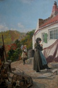 Repairing the Net, Runswick Bay by Ralph Hedley