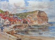 Staithes, Looking Towards Cowbar by Rowland Hill