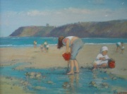 Sandsend, Making Sandpies by Richard Marshall