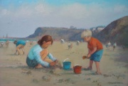 Playing on the Beach at Sandsend by Richard Marshall