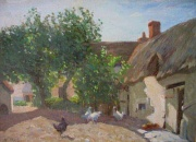 Poultry in a Sunlit Farmyard by Paul Paul (Politachi)