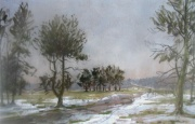 Helmsley Bank, Thawing Snow by Angus Rands