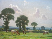 Cattle Grazing by Ernest Higgins Rigg