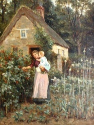 Picking Raspberries by Ralph Hedley