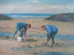 Bait Diggers, Staithes by Richard Marshall