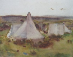 An Encampment by William Frederick Mayor